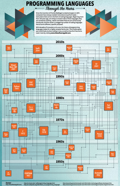 Programming Languages Through the Years - Infographic | Bazaar | Scoop.it
