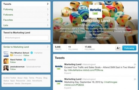 Twitter Switching Everyone To New Profiles In Two ... - Marketing Land | Seo & social media marketing | Scoop.it