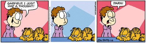 Garfield without Garfield's thought-bubbles - Boing Boing | bubbles | Scoop.it