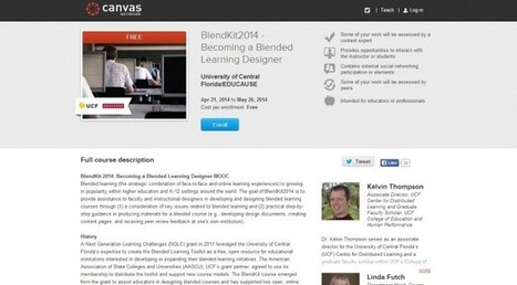 HEDLINE: EDUCAUSE partners with Instructure and UCF for BlendKit2014 MOOC - e-Learning Feeds | MOOC | Scoop.it