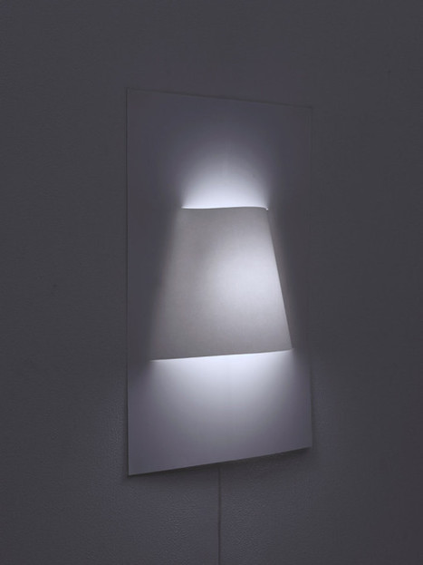 A Wall Lamp Made From a Sheet of Paper - Design Milk | Du mobilier, ou le cahier des tendances détonantes | Scoop.it