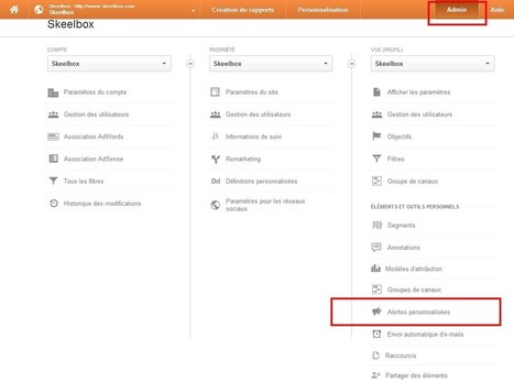 7 alertes Google Analytics à mettre en place rapidement – ★ Agence Conseil & Stratégie E-commerce – SKEELBOX Paris | Social Media & e-Marketing | Scoop.it