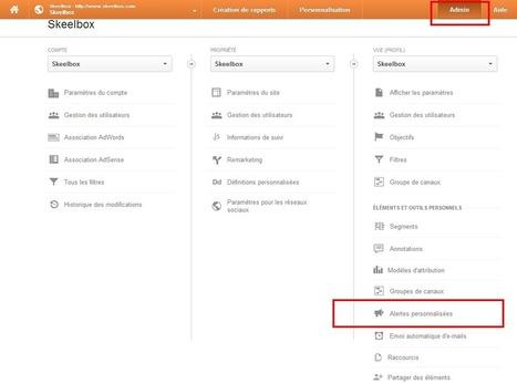 7 alertes Google Analytics à mettre en place rapidement | Veille et Best Practices Analytics & Conversion | Scoop.it