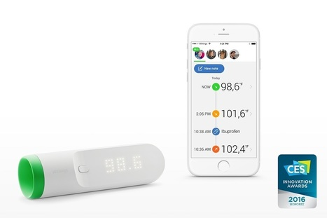 Le mag de la maison intelligente » Withings Thermo : le thermomètre connecté et design | Hightech, domotique, robotique et objets connectés sur le Net | Scoop.it