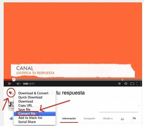 Cómo descargar un vídeo de youtube totalmente gratis y en unos minutos | Bibliotecas Escolares do S. XXI | Scoop.it