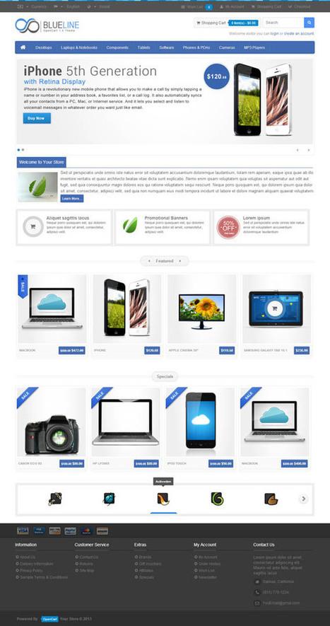 Blueline, OpenCart Retina Ready Minimal Electronics Shop Theme | Premium Download | Premium Opencart Themes | Scoop.it