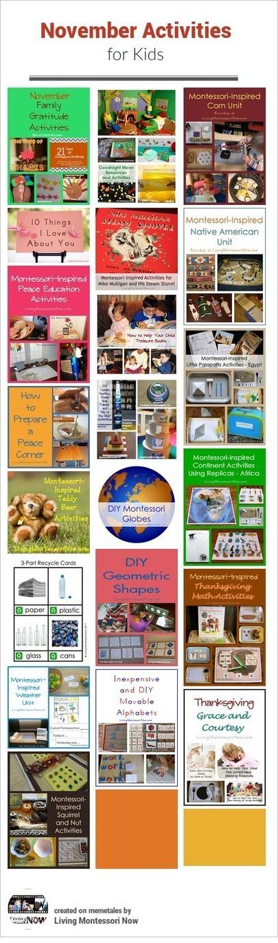 November Themed Activities for Kids | We Need Montessori | Scoop.it