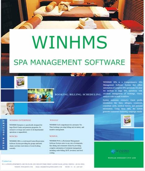 WINHMS- Spa Management Software With New Email Reporting Features. | Hotel Management Software | Scoop.it