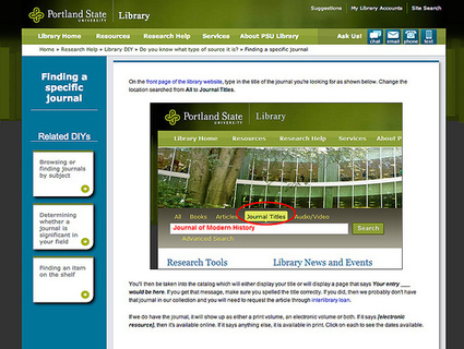 Library DIY: Unmediated point-of-need support   Information Wants To Be Free   Areas of Exploration   Scoop.it