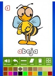 Free Kids iPad and iPhone App from OnlineFreeSpanish – Spanish Alphabet Coloring » Spanish Playground   Multilingual Finesse   Scoop.it