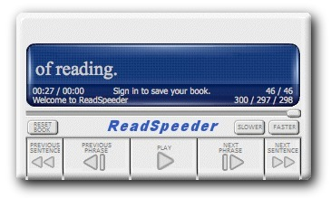 ReadSpeeder | Free Speed Reading System | Ed Tech | Scoop.it
