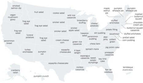 The Thanksgiving recipes googled in every state   Big Data   Scoop.it