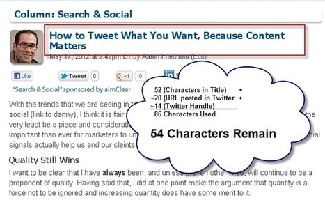 How To Tweet What You Want, Because Content Matters | Search Engine Marketing Trends | Scoop.it