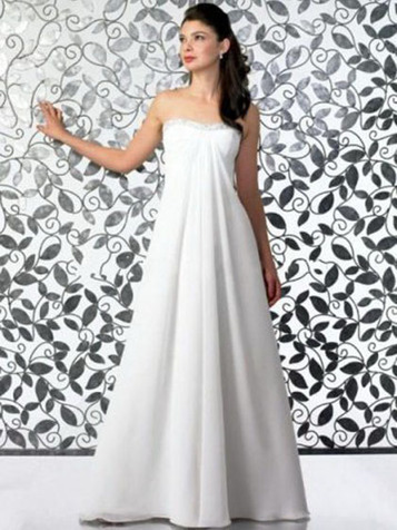 Empire Sweetheart Chiffon Floor-length Draped Wedding Dresses at Millybridal.com | wedding and event | Scoop.it