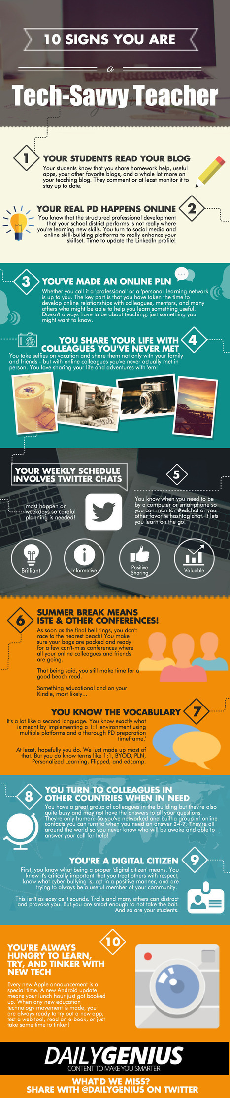 10 Signs You Are a Tech-Savvy Teacher Infographic | e-Learning Infographics | Leading EDge | Scoop.it