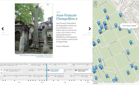 Chrono-cartographie interactive du cimetière du Père-Lachaise Paris | GenealoNet | Scoop.it