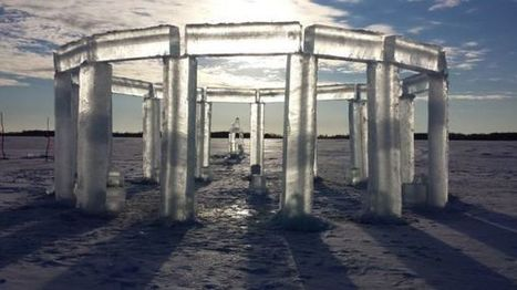 """Icehenge"" Appears on a Frozen Lake in Wisconsin 