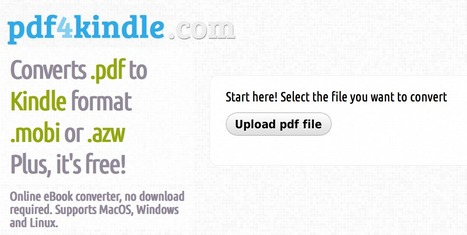 Need to convert a Pdf eBook to Kindle format? | My Curriculum Resources | Scoop.it