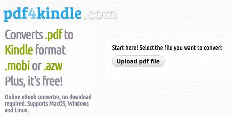 Need to convert a Pdf eBook to Kindle format? | IKT och iPad i undervisningen | Scoop.it