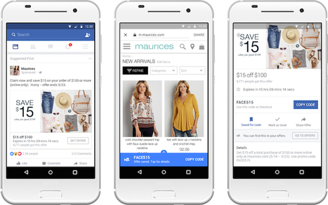 "Facebook améliore son format ""offres"" : rappels, coupons individuels... 