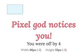 Pratiquer votre oeil graphique : dimensions exactes avec Pixactly   Courants technos   Scoop.it