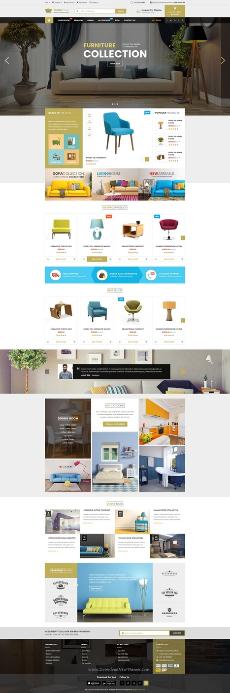 Furnicom - Responsive Furniture Woocommerce WordPress Theme Download | Creative Themes and Template Download | Scoop.it