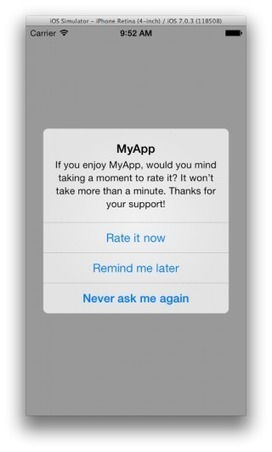 A Dead Simple Open Source iOS Library For Prompting Users To Rate Your App | iOS Dev | Scoop.it