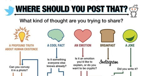 Which Social Media Should You Post That Thing You Want to Share On? | Tracking Transmedia | Scoop.it