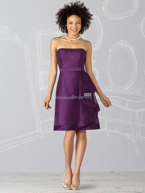 Trendy Purple Sleeveless Knee Length Ruffled A-line Bridesmaid Dress with Belt | Designer Bridesmaid Dress 2014 | Scoop.it