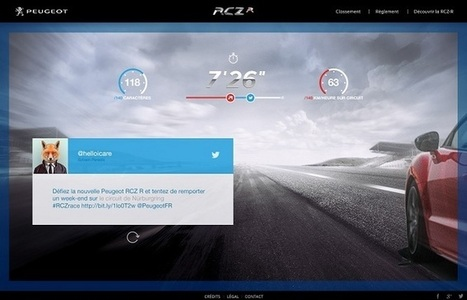 Peugeot invente la course sur Twitter | Actu design - campagnes | Scoop.it