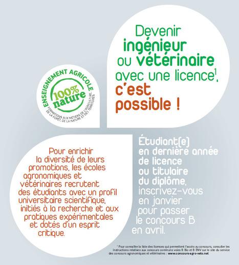 Service des Concours Agronomiques et Vétérinaires | Orientation Parcours Métiers | Scoop.it