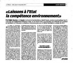 Cap21 Outre-Mer » Laissons à l'Etat la compétence environnementale à Saint-Martin | CAP21 Le Mouvement | Scoop.it