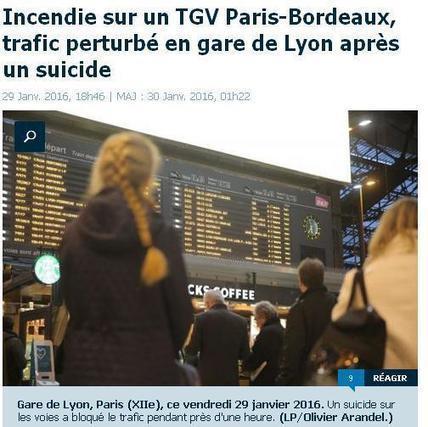 Perturbations hier 29 janvier - incendie après un suicide. | Charentonneau | Scoop.it