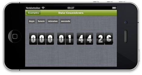 JDFlipNumberView : Simulating an analog flip display | Iphone ipad development | Scoop.it