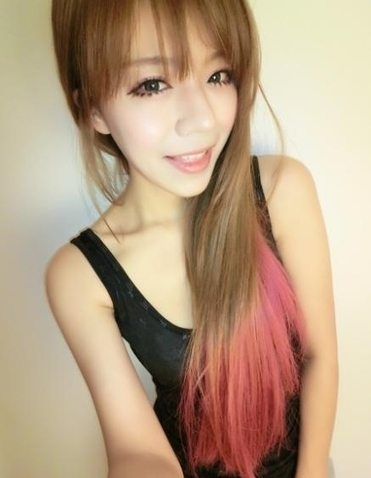 Nicely Done Pink Highlights On Brown Hair | Asian Girls Review | Scoop.it