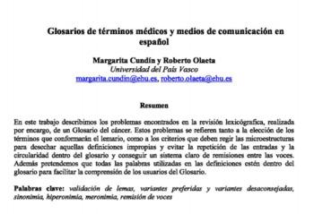 (ES) (PDF) - Glosarios de términos médicos y medios de comunicación   Margarita Cundín y Roberto Olaeta   Glossarissimo!   Scoop.it