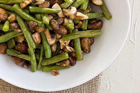 Roasted Green Beans & Mushrooms with Walnuts   Healthy Whole Foods   Scoop.it