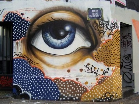 kiss-a-lucky-horseshoe: Street art by Inconnu ... | the different types of Art | Scoop.it