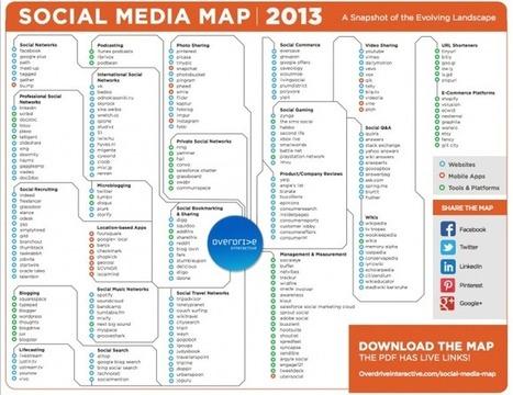 Carte interactive des médias sociaux édition 2013 | le 2.0 à mon service | Scoop.it