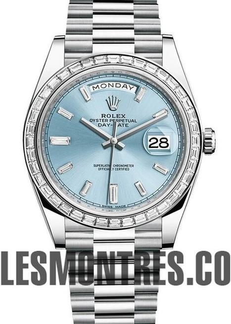 Suisse Replique Rolex Oyster Perpetual Day Date 40 228396TBR cadran bleu | replique montres pas cher | Scoop.it