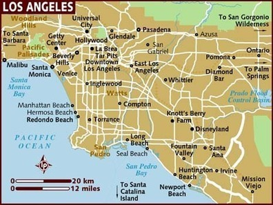 map_of_los-angeles.jpg (466x350 pixels)   Ex-Heroes by Peter Cline Independent Reading   Scoop.it