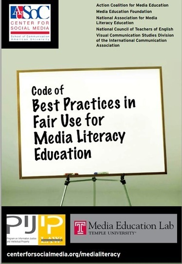 A Must Read Code of Best Practices in Fair Use and Copyright ~ Educational Technology and Mobile Learning | PBL ikasgelarako balio handiko balabideak  Recursos de alto valor para mi aula PBL | Scoop.it