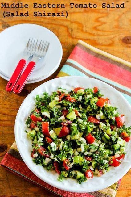 Recipe Favorites: Middle Eastern Tomato Salad (Salad Shirazi) | Organic News & Devon's Worldviews | Scoop.it