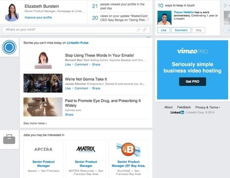 LinkedIn Rolls Out A Simplified Homepage With Analytics And News Feed Front And Center | Using Linkedin Wisely | Scoop.it