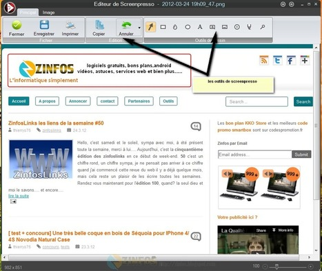 Screenpresso un excellent logiciel de capture d'image gratuit | François MAGNAN  Formateur Consultant | Scoop.it