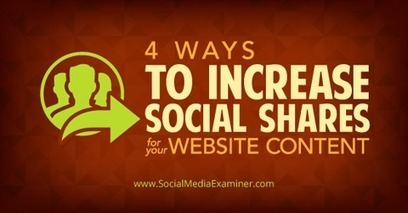 Four Ways to Increase Social Shares for your Website Content | Social Media Useful Info | Scoop.it