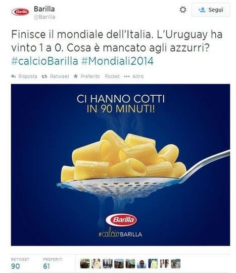 Italia-Uruguay: le reazioni in real time dei brand | Social Media Lands | Scoop.it