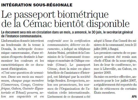 Le passeport biométrique de la Cémac bientôt disponible - Les dépêches de Brazzaville | Semlex Europe | Scoop.it