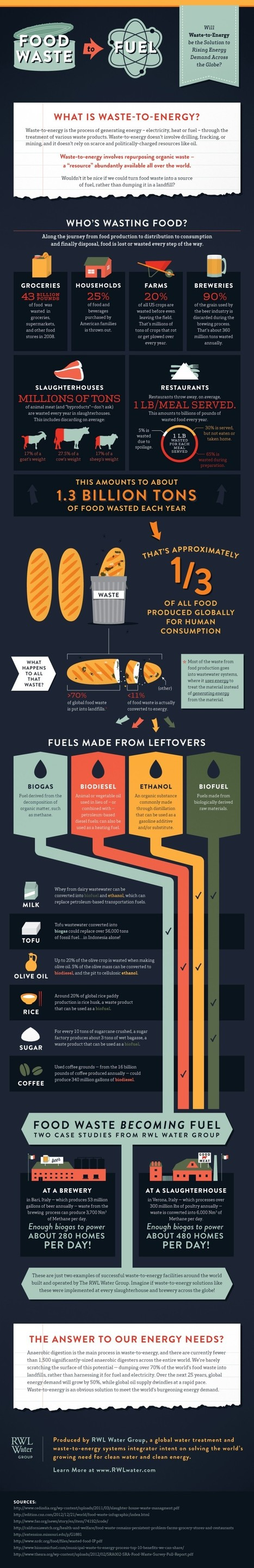 Food waste to fuel: An infographic | Food and Agriculture | Scoop.it