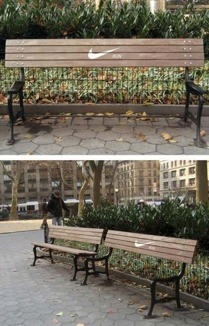 15 opérations créatives de street marketing sur des bancs | Adverbia - Com' corporate & publicité | Scoop.it